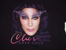 Cher 2014 Dressed To Kill Tour Concert T-shirt Xxl Cyndi Lauper Pat Benatar