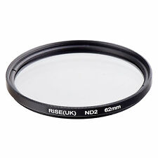 RISE(UK)62​mm Neutral Density ND2 Filter for Canon Nikon Sony Fuji Samsung Lens
