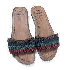 Adesa Womens 40 10 9.5 Sandals Toe Strap Slides Wedges Slip On Shoes Turkey