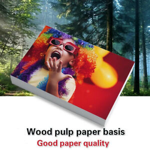 100 Sheets Glossy 4R 6inch Photo Paper for Inkjet Printer Paper Imaging SupY_ec