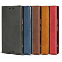 Case For Sony Xperia XZ Premium Genuine Leather Magnetic Flip Card Wallet Cover