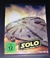Solo A Star Wars Story 3D blu ray + Marcado Limitada steelbook Nuevo