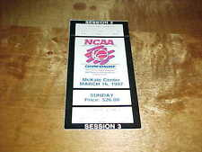 1997 NCAA Basketball Championship West Regional Full Ticket 3/16 Stanford Utah