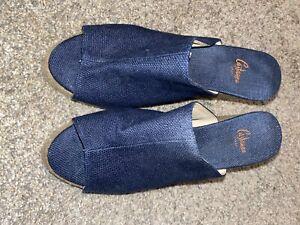 Castaner Womens Open Toe Wedge Sandals Navy Espadrilles Size 38