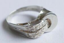 Ring Designer Modernist Israel 925er Silber Vintage 70er Silver Ring