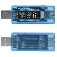 Power Bank Meter Ammeter Tool USB Current Voltage Tester Charger Capacity D5E8