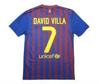 Barcelona 2011-12 Authentic Home Shirt David Villa #7 (Excellent) S