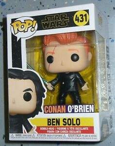 Custom Funko Pop Vinyl Figure Conan O'Brien as Ben Solo from Star Wars  # 431
