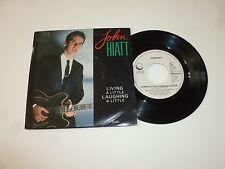 "JOHN HIATT - Living A Little Laughing A Little - 1985 Dutch 7"" Juke Box Single"