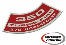 Chevrolet- Corvette-Chevy 350 Turbo-Fire 370 HP Air Cleaner Decal-