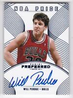 2013-14 Will Perdue #/49 Auto Panini Preferred Bulls