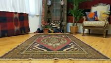 """Breathtaking Antique 1900-1939s Hand Knotted Wool Pile Oushak Area Rug 4'2""""x 7'2"""