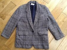 Vintage Planet Made In England Navy Blue Dog Tooth Check Jacket Size 12 (Lovely)