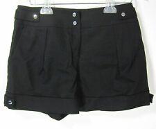 Karen Millen shorts pants cotton size 6 solid black side pockets