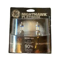 GE Headlight Bulb Nighthawk Platinum Halogen Headlamps New In Package 9006NHP