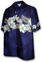 Hibiscus Band Hawaiian Aloha Shirt Pacific Legend Made in Hawaii 440-3545