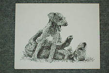 Airedale Puppies Pen & Ink Stationary Cards, Note Cards, Greeting Cards. 10 ct.