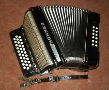 Akkordeon Hohner Pre Corona schwarz, MADE IN GERMANY, Ton A-D-G, 31/12, 2-chörig
