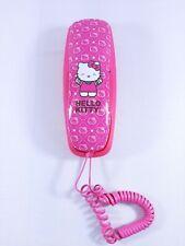 Sanrio Hello Kitty Pink Slim Line Corded Room Wall Phone Telephone - Tested