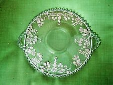 """ELEGANT CANDLEWICK DOUBLE HANDLED SERVING PLATE STERLING SILVER OVERLAY 12"""""""