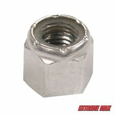 """Extreme Max 48 Pack Aluminum Nylock 1/2"""" Nuts - Snowmobile Studs"""