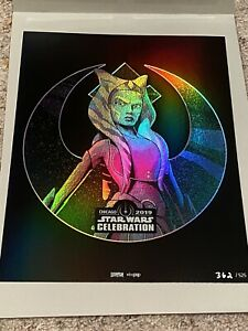 Star wars Celebration VIP Limited Edition Ahsoka Print #362/525 8x10 RARE!!!