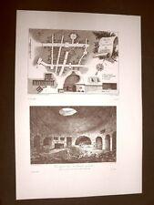 Siracusa Pianta e interno Catacombe Sicilia Voyage Pittoresque di Saint Non