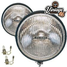 "Vintage Warehouse 65 Classic Retro Rally Pair 6"" Round 12v Spot Driving Lights"