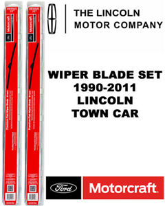 Motorcraft Wiper Blades Genuine OEM Set Of 2 For Lincoln Town Car 1990-2011