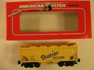 "American Flyer 6-49608 ""DOMINO SUGAR"" COVERED HOPPER CAR ""NEW"" in ORIG BOX"