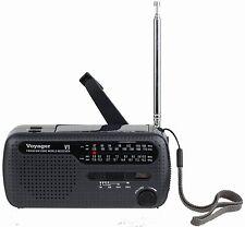 Voyager V1 AM FM Shortwave Emergency Radio with Solar and Hand Crank Black