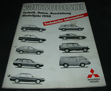 Technische Information Mitsubishi Colt Lancer Pajero Galant Modelljahr 1990!
