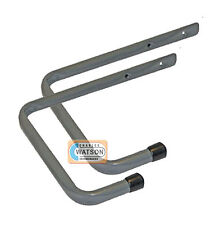 2 x 250mm STORAGE HOOK Ladder Garage Shed Workshop Wall Mounted Bracket Tidy