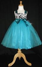 NWT Lil Miss Muffin Pageant Party Teal Tutu Dress 4T