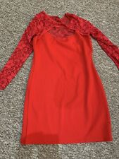 Womans Boohoo Cocktail Dress Red Size 16