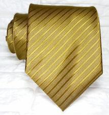Cravatta uomo Made in Italy 100% seta business eventi jacquard bronzo marca