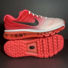 New Size 10 Womens Nike Air Max 2017 White Pink Punch Running Shoes 849560-103🔥