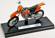 BLITZ VERSAND KTM 525 EXC orange Welly Motorrad Modell 1:18 NEU & OVP