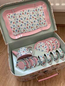 Cath Kidston Children's Toy Tea Set Never Used! Pet's Party Design