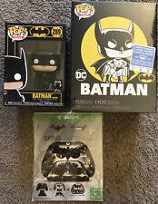 Funko Pop Heroes BATMAN 80th Batman #289 BATMAN LOT POP TEES t-shirt XBOX SKIN