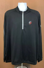NBA Basketball Portland Trail Blazers Mens Black 1/4 Zip Pullover Jacket Size XL