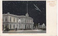 B78543 lima palacio de la exposotion y el cometa  peru  scan front/back image