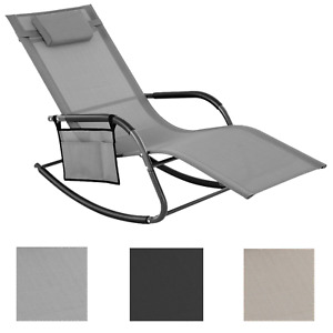 Schaukelstuhl Sonnenliege Gartenliege Liegestuhl Relaxliege bis 150 kg belastbar