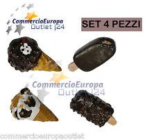 set di 4 calamite frigo gelato cornetto cremino in resina frigorifero ice cream