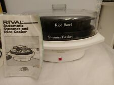 RIVAL Automatic Steamer & Rice Cooker Model 4450 w/ Manual & Recipes