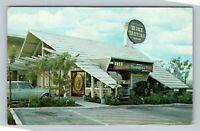 Fresno CA, California Wine Tasting Room, Chrome California Postcard