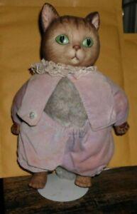 Porcelain and Plush Tom Kitten Figurine Beatrix Potter #30706 Eden Gift