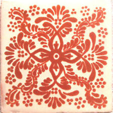 #C059) Mexican Tile sample Ceramic Handmade 4x4 inch, GET MANY AS YOU NEED !!