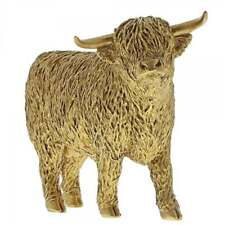 Border Fine Arts Studio Gold A29284 Highland Bull Gold