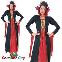 Womens Ladies Gothic Vampire Queen Princess Halloween Fancy Dress Costume